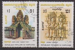 Archéologie - Temple D'Angkor Vat, Porte Nord - KAMPUCHEA - Culture Khmère - Apsara, Bas Relief - 1983 - Kampuchea
