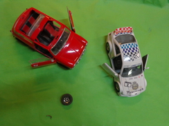 Voiture Solido Mini Cooper 1964 1/16 Pour Piece + Bmw M 3 Burago 1/24 - Altre Collezioni