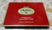 Vecchia Scatola Di Latta CRAVEN A - Virginia Cigarettes - Contenitori Di Tabacco (vuoti)