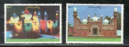 Pakistan 1985 Mosque, Architecture, Building 2v Sc 653-54 MNH # 0539