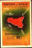 4995)cartolina Illustratoria Ente Primavera Siciliana - 1900-44 Vittorio Emanuele III