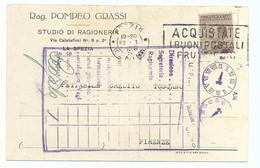 1926 - Cartolina Da Spezia A Firenze - C_ - Marcophilia