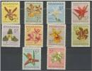 NICARAGUA 1962 - FLORES ORQUIDEAS 10 SELLOS - YVERT 859-868 - MICHEL Z 61-70 - SCOTT RA 66-75 - Nicaragua