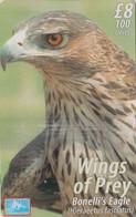 Télécarte Neuve De Gibraltar Oiseau Rapace AIGLE De Bonelli - Raptor Eagle Chip Phonecard Mint - Gibraltar