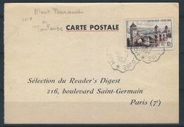 ABB--042-, .superbe Carte Avec Ambulant CLERMONT-FERRAND A TOULOUSE, De 1957, TTB , - Marcophilie (Lettres)