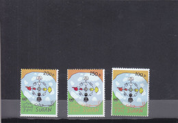 Stamps SUDAN 2001 2002 SC-532 534 DIALOGUE AMONG CIVILIZATIONS MNH SET CV$32 # 49 - Soudan (1954-...)