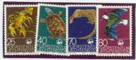 Liechtenstein Michel Nrs. 644/647 Different Animals (E193) - Postzegels