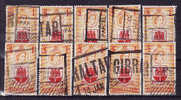 GIBRALTAR - 143 Oblitéré (10 Timbres Avec Petits Défauts) - Cote 700 Euros - Gibraltar