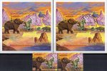 Naturschutz Elefanten Afrika 1991 Mammut Tansania 1021,Block 164 ** Plus O 22€ WWF M/s Bloc Mammuthus Sheet Bf Tanzanie - Timbres