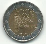 2 EUROS 2008 PRESIDENCE FRANCAISE UNION EUROPEENNE BON ETAT - France
