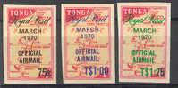 Tonga  1970 Royal Visit   : Official Airmail - Tonga (1970-...)