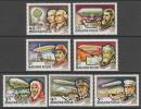 SERIE NEUVE DE HONGRIE - HISTOIRE DU DIRIGEABLE N° Y&T PA 400 A 406 - Zeppelins