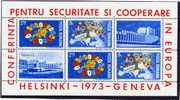 1973  European Conference On Cooperation And Security  Mi Nr Block 108  MNH ** - Blocs-feuillets