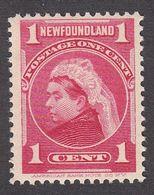 Newfoundland 1897 Queen Victoria 1 Cent  SG 84 MH - 1865-1902