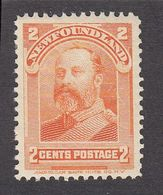 Newfoundland 1897  2 Cents   SG  86  MH Very Small Toning In Gum - Newfoundland