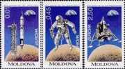 Moldova 1994 Europa Space 3v MNH - Space