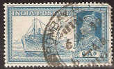 India 6A Mail Steamer - 1936-47 Roi Georges VI