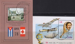Ballonfahrt 1983 Kuba Blocks 54+Bl.76 O 7€ EXPO CAPEX Gemälde Winter 1978 Ss Concorde Blocs Air M/s Sheets Bf Cuba - Cuba