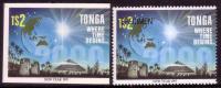 Tonga Cromalin Proof 1996 Year 2000 Milennium - Space Pyramid Egypt - Map Globe - $2  Value - 5 Exist - Spazio