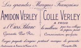 BUVARD  ..  Droguerie  ..  Amidon & Colle VERLEY ..  Marquette 59 Lille  . - Blotters