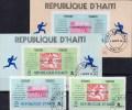 Marken Olympiasieger 1896-1968 Haiti 1045+47,Block 36+38 O 22€ Marathon - Haiti