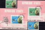 USA-Mondlandung Apollo 11 Umkreist Den Mond Haiti 1088/9+Block-Paar 39/40 O 12€ Bloque Blocs M/s Space Sheets Bf America - Haïti