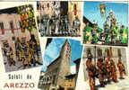 Saluti Da Arezzo Giostra Del Saracino Multivedute - Costumi