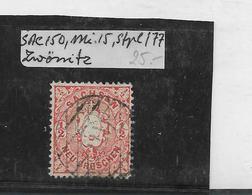 Sac150/ Mi. 15, Stempel 177, Zwönitz - Sachsen