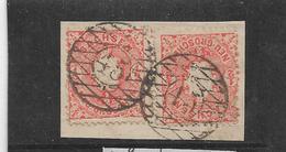 Sac154/ Mi. 15 (2 X) Stempel 45,  Löbau - Sachsen