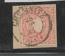 Sac159/ Mi. 15, Briefstück,Chemnitz - Sachsen