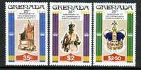 Grenada   873-76  W/ S/S Bloc   **  ANNIV.  CORONATION  QE  II - Grenada (1974-...)