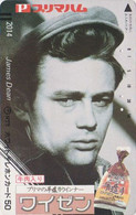 Télécarte Japon / 7-11 - 2014 - Vedette De Cinéma - JAMES DEAN - Japan Movie Star Phonecard - Kino Balken TK - 26 - Kino
