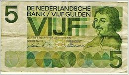 """5 Gulden """" Hollande""""   26 Avril  1966     Bc109 - [2] 1815-…: Königreich Der Niederlande"""