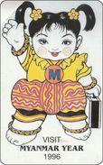 Myanmar Phonecard  Visit 1996 Puppet - Aegypten