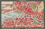 GENEVE : Carte De La Ville Avec Nomenclature, Sur Carte Postale - GE Genève