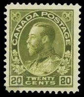 Canada (Scott No. 119 - Série Amiral / Admiral Issue) (**) VC 360.00 CV - Neufs