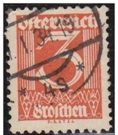 Austria 1925 Scott 305 Sello º Basica Numeros 3 Michel 449 Timbre Autriche Osterreich - 1918-1945 1ra República