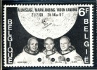 1969 Belgium Moonlanding Stamp MNH (**) - Neufs