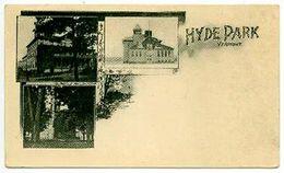 UDB Postcard: HYDE PARK, VT, Three Buildings In Village, 1901-07 - United States
