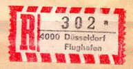R-label Dusseldorf Flughaven Airport On Piece - Vliegtuigen