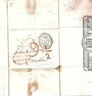 Spk022 - SPANIEN -/Orense, Galicia, 2-fach Verwendet Mit 9 ½ Und 29 Reales 1836 - ...-1850 Prefilatelia