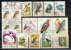 Lot 81 Birds  Of Europe  2 Scans 37 Different  MNH, Used - Timbres