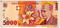"""5000 Lei  """"ROUMANIE""""   1998  UNC     Bc 3 - Romania"""