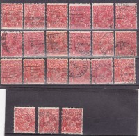Australie Lot A1031, YT N° 52, 21 Exemplaires, Côte 21€ - Used Stamps