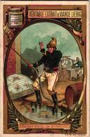 0204 Pompiers ( Story, BD, Fire Men, Humor, Comic ) Anno 1887 SERIE COMPLETE Liebig S 204 POMPIERI 6 Cards Chromo Litho - Liebig