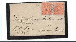 Ecu086/ Quito 1880. Un Real Im Paar, Trauerbrief USA (cover, Letter, Lettre) - Ecuador