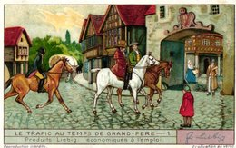 1312 Le Trafic Au Temps De Grand-père  - HET VERVOER IN GROOTVADERS TIJD -Liebig 6 Chromos Cards Serie - Liebig