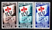 Italie 599 / 01 Fêtes Et Concours Internationaux De Gymnastique ( Cote 75.00 Euros ) - Gymnastics