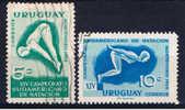 ROU Uruguay 1958 Mi 810-11 Schwimm-Meisterschaften - Uruguay