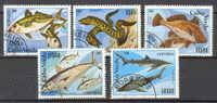 Cabo Verde 1980 SG. 486-90 Fish Fische Set Of 5 - Islas De Cabo Verde